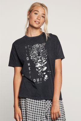 grijs t-shirt van biologisch katoen met tijger opdruk ts wildheart