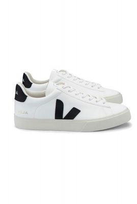 witte sneakers met zwarte details campo chromefree cpw051537