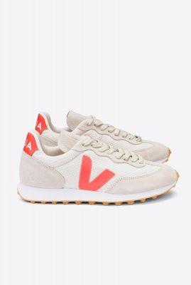lichte sneakers met fluor oranje details rio branco hexamesh gravel orange fluor rb012151