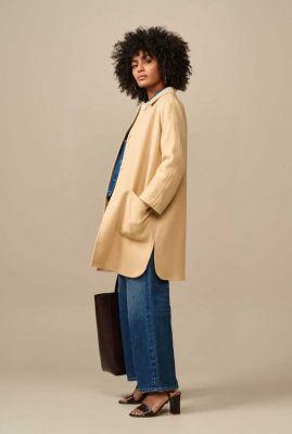 klassieke beige mantel jas vesper p1376