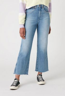 cropped denim jeans met flare pijp mom kick flare W206JH28W