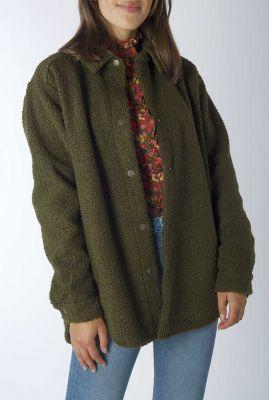 donker groene teddy jas millie jacket w21.130.3456