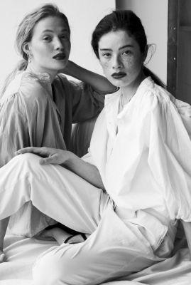 witte katoenen blouse met pofmouwen w21f930lab