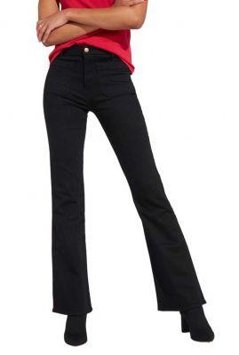 zwarte flared jeans met opgestikte zakken W233GQ111