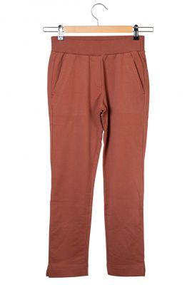 donker rode comfy broek met elastische band adult trouser kate
