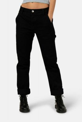 duurzame zwarte jeans met loose fit will worker dip black