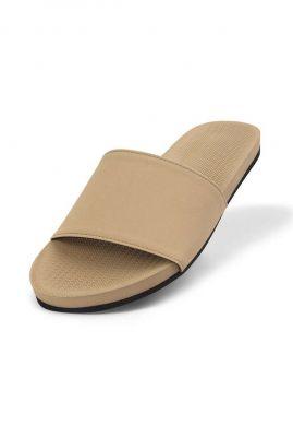licht bruine slippers slide essential light