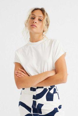 wit t-shirt van biologisch katoen volta wts00226
