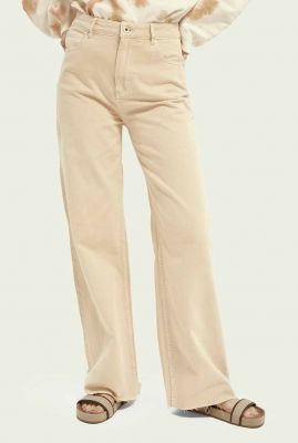 lichte oranje jeans met wijde pijpen 161778