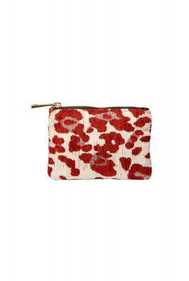 xxs etui met rood/ witte luipaard print xxs etui rust leopard
