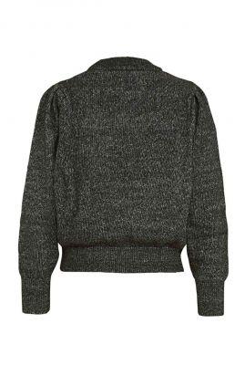 zwart wit gestreepte trui van viscose mix 7s5519 7778