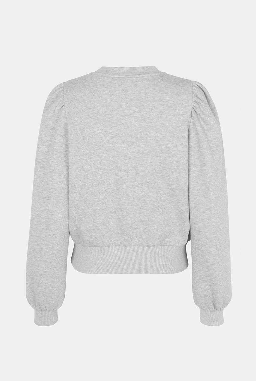 SECOND FEMALE CARMELLA SWEAT Sweaters Licht Grijs bestel je