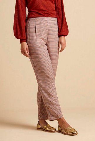 rood blauw geruite broek roisin pants 04816