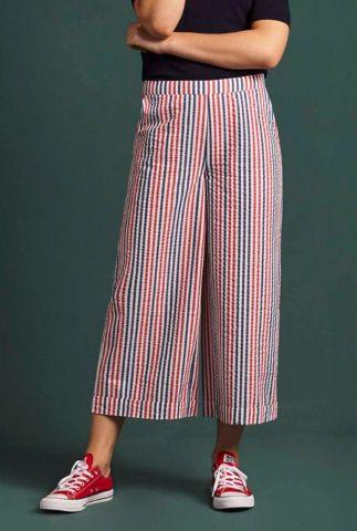 rood met blauw gestreepte culotte ethel culotte 05228
