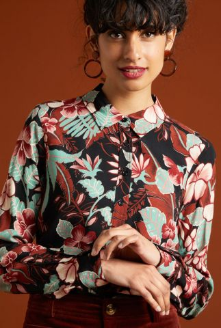 viscose blouse met bloemen dessin rosie blouse lilo 05435