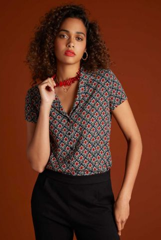 viscose blouse met korte mouw daisy blouse palmer 05975