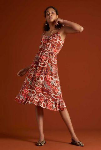mouwloze jurk met botanische print 06002 camilla lei