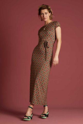 rode maxi jurk met lage rug sally maxi dress morada 06180