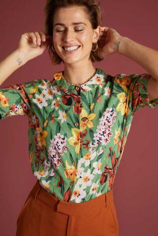 gebloemde blouse met korte mouw gabriella blouse tula 06223