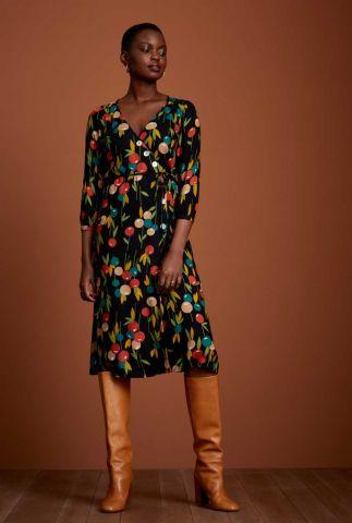 zwarte wikkel jurk zuma wrap dress rosy lee 06522