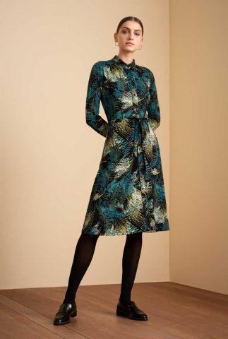zwarte jurk met botanische print olive dress devon 06533
