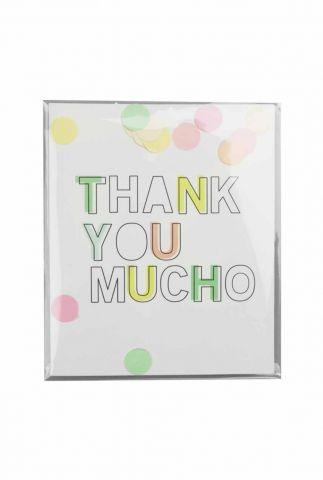 confetti kaart thank you mucho 1055501