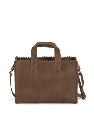 my paper bag schoudertas bruine mini cross-body tas 10760001