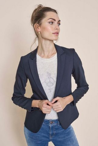 zachte blazer van bio katoenmix blake night blazer sustainable 112579