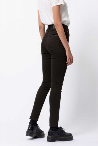 zwarte highwaist skinny jeans 113021 hightop tilde ever black