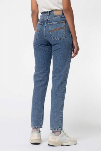 tapered jeans met high waist breezy britt friendly 113289