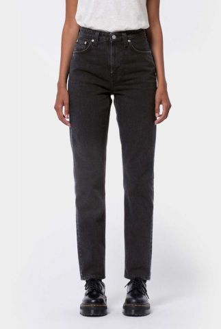 zware tapered jeans met high waist 113322 breezy britt black