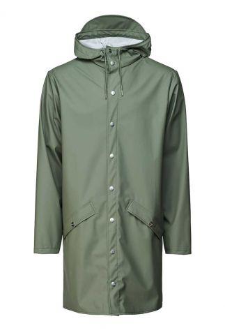 olijf groene halflange regenjas long jacket 1202 olive