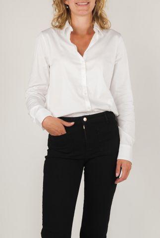 witte blouse met overhemdkraag white martina  129000