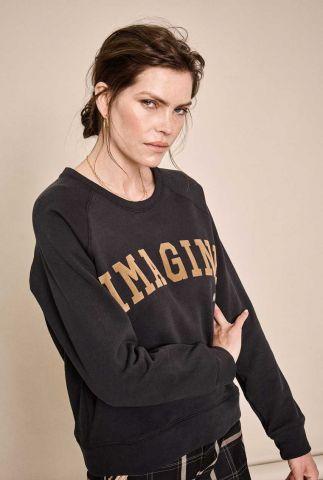 zwarte sweater met tekst opdruk 134840 ace