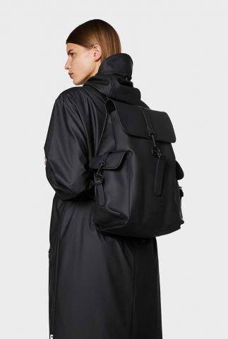 zwarte tas met kenmerkende voorflap 1363 black