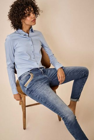 high waist jeans met pailletten details naomi wave jeans 137400
