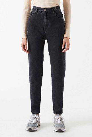 donker grijze mom jeans nora retro black 1430113