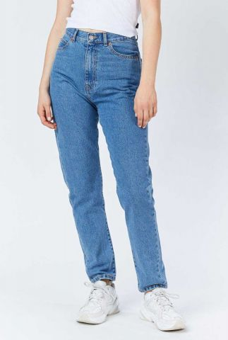 mom jeans met high waist nora retro sky blue 1430113