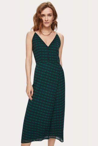 chiffon jurk met all-over print en spaghettibandjes 155960