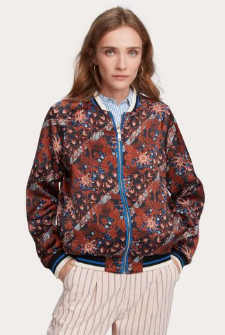 reversible bomber jack met all-over print 158774
