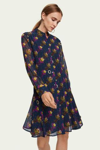 soepel vallende blouse jurk met all-over print 158985