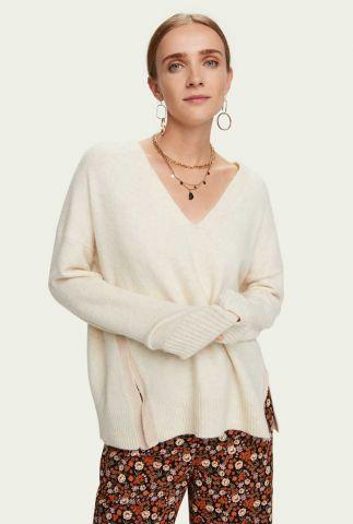 zacht gebreide trui met zijsplit 159209