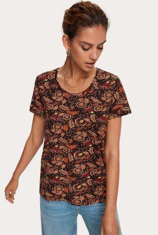 t-shirt met botanische bloemen dessin 159250