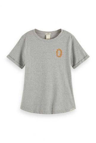 grijs t-shirt van katoen met logo opdruk 159268