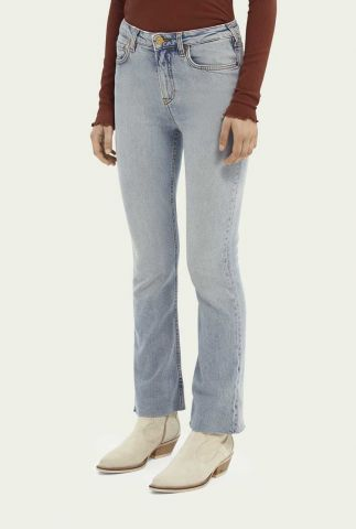 licht blauwe high-rise cropped flared jeans 159883