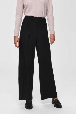 zwarte high waist broek met wijde pijpen  16068143 tinni pant