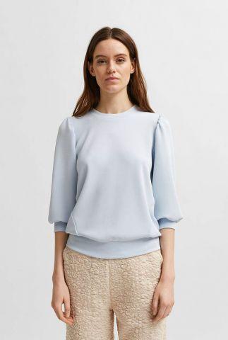 zachte sweater met ballonmouwen tenny sweat 16074308