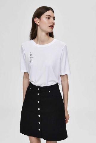 wit zacht t-shirt met tekst opdruk summa tee 16074395