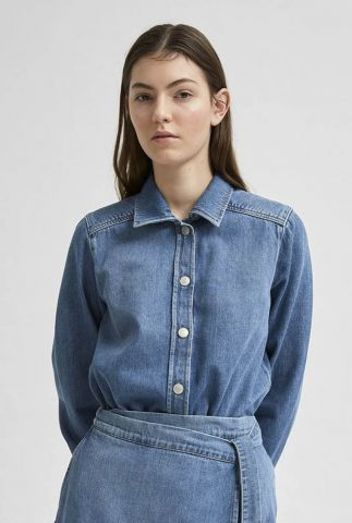 katoenen denim blouse mille laurel 16077006