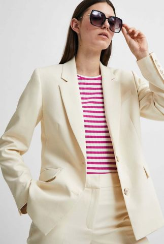 getailleerde off-white blazer met revers rita classic blazer 16078504